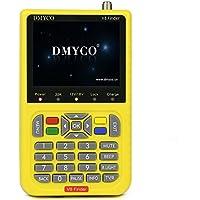Satellite Finder V8 Finder, Free Sat Digital FTA Signal Meter DVB-S2 Receiver MPEG-4 HD 1080P Satellite LNB Directv Dish Adjusting Tool with 3.5 Inch LCD Screen Display