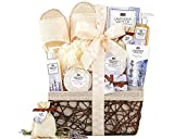 A Day Off Spa Gift Basket For Her Cru De Provence Lavender Vanilla Scented Thank You Gifts Home Spa Gift Baskets Luxury Bath & Body Gift Set For Wife, Girlfriend, Sister, Mother