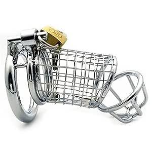 SHIYUPING Juguete for Adultos Equipo Masculino Silver Net Cage ...