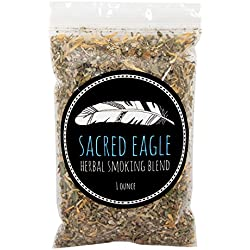 Sacred Eagle Herbal Smoking Blend with Pure Hemp Rolling Papers (1 oz Refill Bag)
