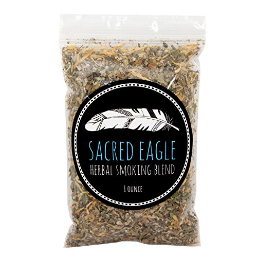 Sacred Eagle Herbal Smoking Blend with Pure Hemp Rolling Papers (1 oz Refill ()