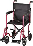 NOVA Medical Products 19'' Lightweight Transport/Wheelchair, Red
