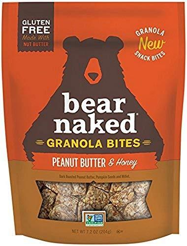 PACK OF 8 - Bear Naked Peanut Butter & Honey Granola Bites, 7.2 oz