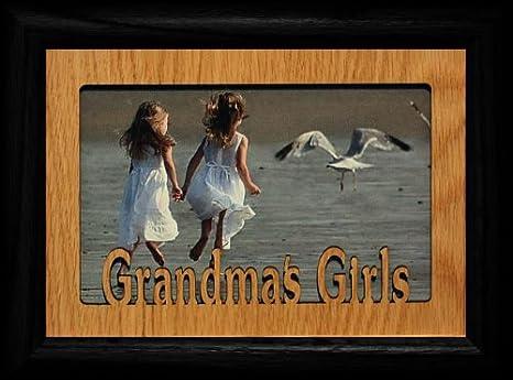 Amazon.com: 5 x 7 de la abuela Niñas ~ paisaje marco negro y ...
