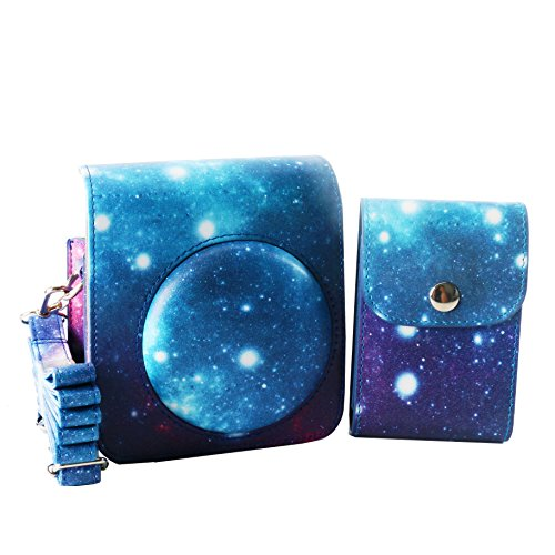 Cool Little Camera Case (WOODMIN Starry Sky Galaxy 2-in-1 Accessories Bundle Set for Fujifilm Instax 70 (Mini 70 case/ Mini photo case))