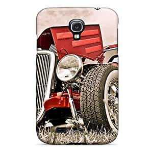 Sanp On Case Cover Protector For Galaxy S4 (really Red Hotrod)