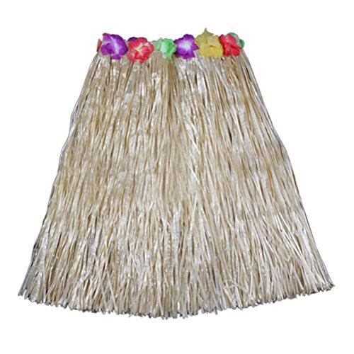 leyouyou520 Adult lady Hawaiian Hula Grass Beach Skirt Flower Party Dress (Sexy Hula Costume)