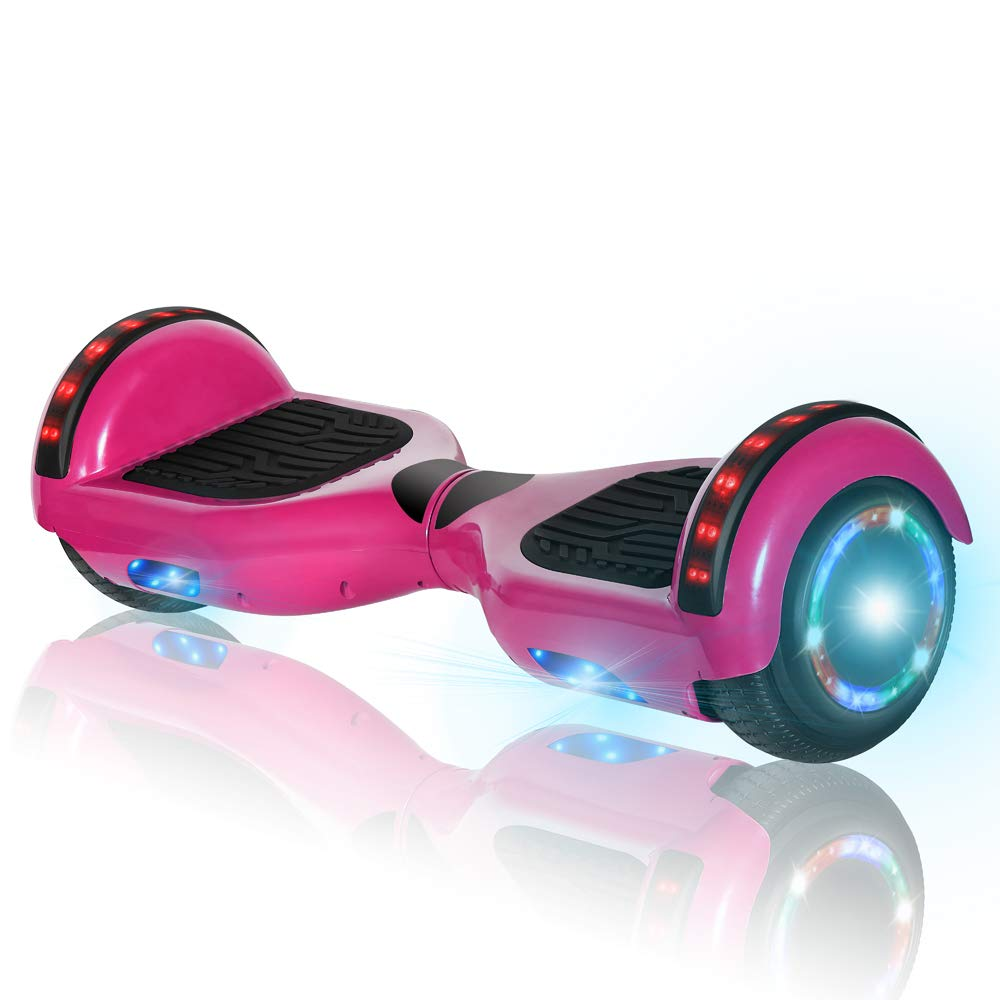 NHT 6.5 Matte Electric Hoverboard Self Balancing Scooter with Built-in Bluetooth Speaker LED Lights UL2272 Certified