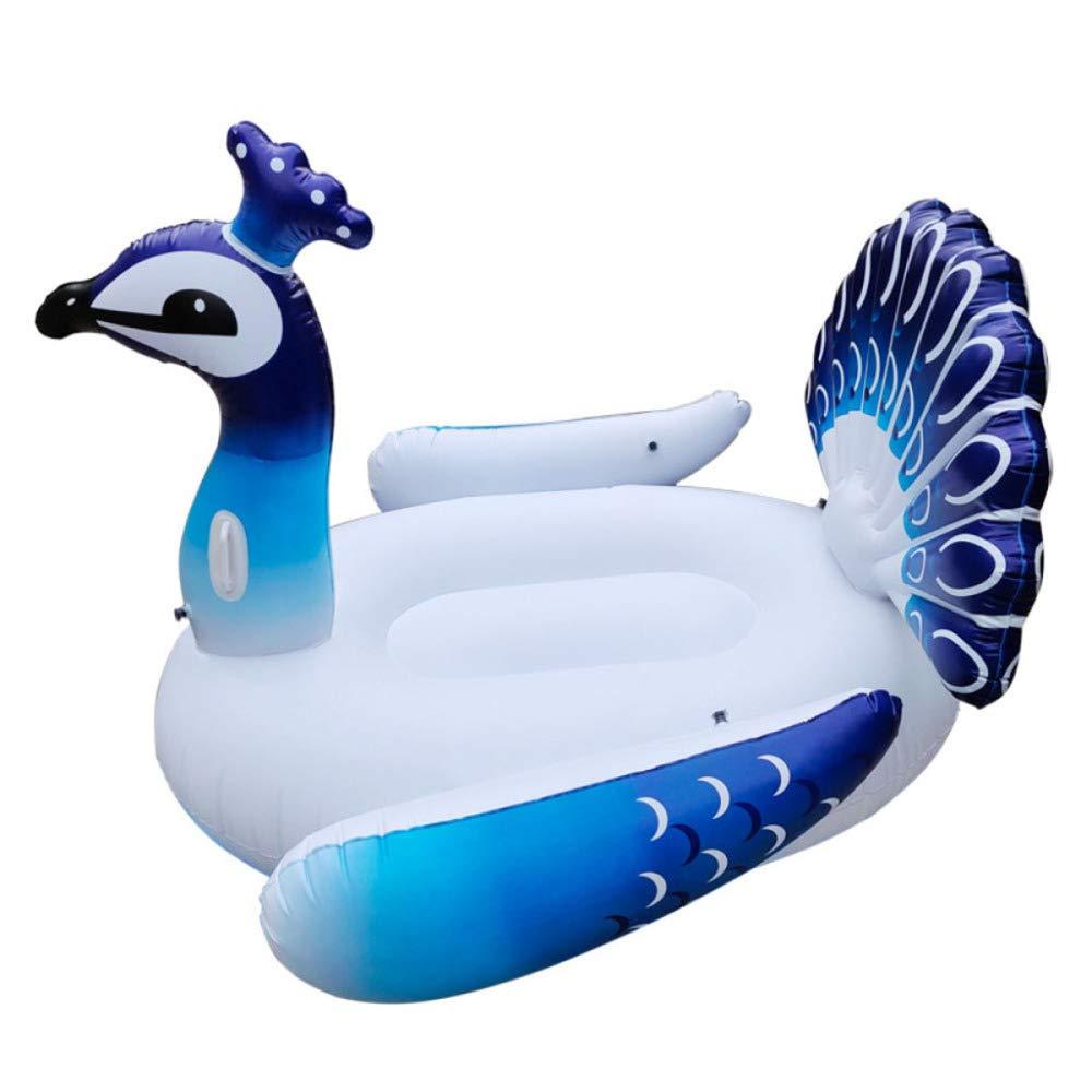 Peacock 160120cm ZHKGANG Erwachsenes Flamingo-Einhorn-Wasser-aufblasbares Berg-Strand-Klappstuhl-Wasser-Spielzeug-Sich Hin- Und Herbewegende Reihe,Peacock-160  120cm