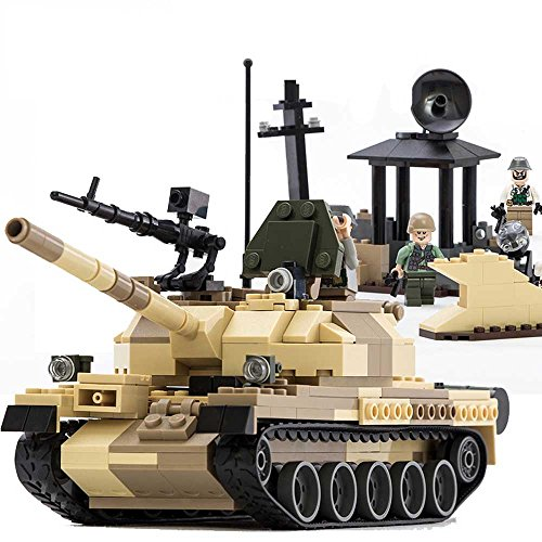 GUDI Military Tank T-62 Building Block Toy Set with Figures (372 PCS)