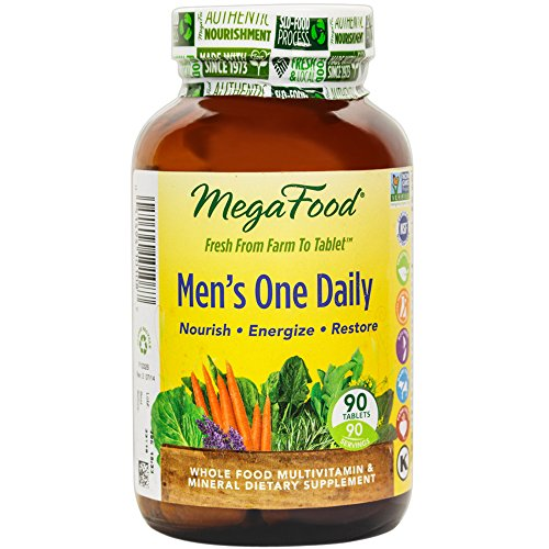 MegaFood – Men's One Daily, Supports Energy Levels & a Healthy Stress Response, 90 Tablets (FFP)