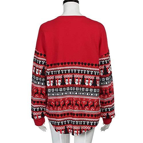 Large Bolawoo À Hiver Imprimer Cou Noël Sweat Jersey De Col Sweats Vintage Manches Mode Casual Partie Chemises Bonhomme Rond Automne Marque Longues Neige Élégant ZrZPq
