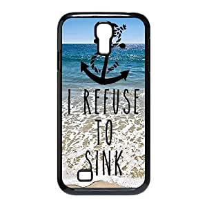 Customized Dual-Protective Case for SamSung Galaxy S4 I9500, I Refuse to Sink Cover Case - HL-R659387
