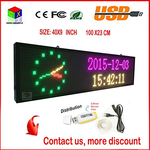 led rolling display Shenzhen chengxian optoelectronic technology co, ltd is the led display, indoor and outdoor full color, single and double color screen, the door to move the word advertising screen , led lights and other products specializing in the production and proc.