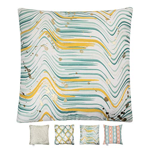 Crewel Bedding (Hahadidi Crewel Embroidery Throw Pillow Covers Home Decorative Pillowcase for Couch Bed Sofa Outdoor Geometric Cushion Case,18 X 18 Inch(45x45 cm))