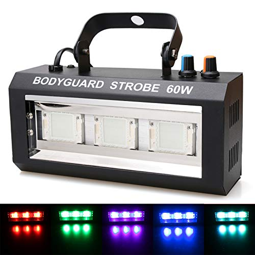 Halloween LED Strobe Light,Sound Activated Party Lights 7 Colors Dj Lighting, RBG Disco Ball Light, Strobe Lamp 7 Modes Stage Par Light for Home Room Dance Parties Bar Karaoke Xmas Wedding Show Club]()