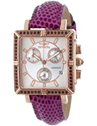 Invicta 10336 Womens Wildflower Classique Quartz Crystal Accented Purple Watch w/ 7-Piece Leather Strap Set