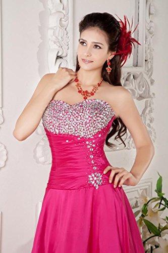 A BRIDE Rot Rose Brust Rote Linie GEORGE mit Diamant Taft Abendkleid wtaBadgq