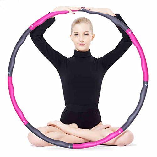 Fitness Hula Hoop Démontable 1 KG pour Exercises Hula-Hoop Léger et Portable