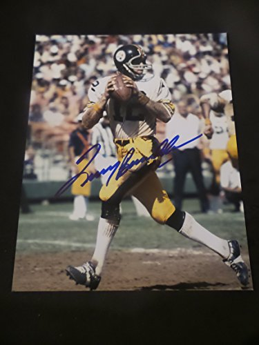 (Terry Bradshaw Signed Denver Pittsburgh Steelers Autographed 8x10 Photograph)