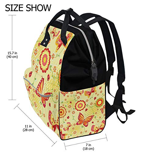 Bag Multi3 Women for Backpack Mummy Large Bag Butterfly Canvas Function Muti Colorful Capacity Travel wqTSCaz