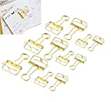 Office Products : DECORA 12 Pieces Wire Binder Clip