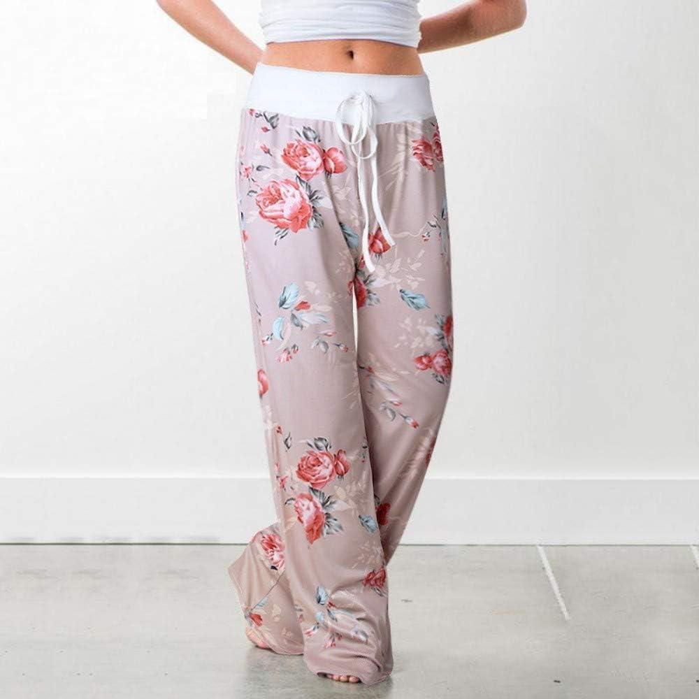 Pantalon De Yoga Pantalon De Yoga M/élange Coton Polyester Cordon De Salon Meuble Attacher La Sangle du Pantalon Taille Haute Pantalon Yoga Pantalon Imprim/é Floral