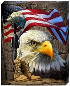 MANY SIZES and COLORS US USA American Bald Eagle In God We Trust American Flag Wall Art Decal Sticker Living Play Room House Decor Kid Boy Girl Ship Bedroom Loft V2