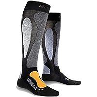 X-Bionic Ski Carving Ultralight Calcetín, Unisex Adulto, Negro/Naranja