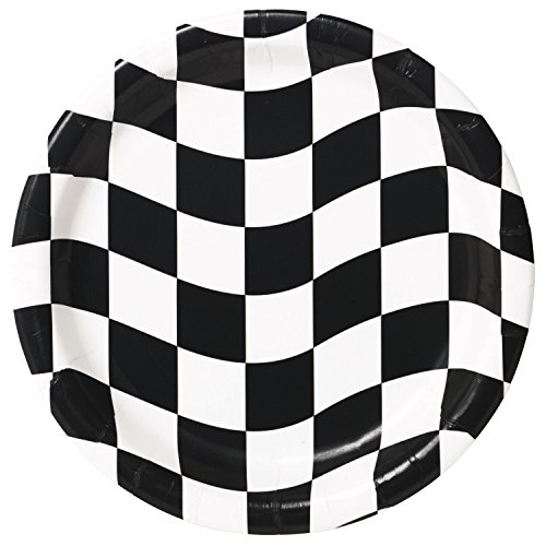 Black and White Check Dessert Plates, 24 ct -