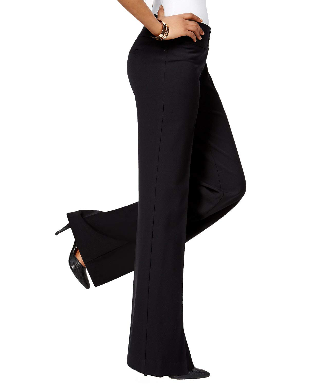 Style & Co. Women's Stretch Wide-Leg Pants (Deep Black, 18 Long)