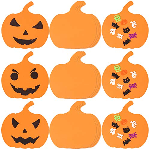 10 Inch Pumpkin - Aneco 10 Inch Foam Halloween Pumpkins DIY Crafts Supplies Pumpkin Shaped Foam for Halloween DIY Craft Decoration, 25 Pack (Not Self-Adhesive)