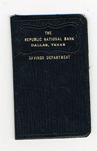 1925 Republic National Bank Dallas Texas Savings Department Leather Book