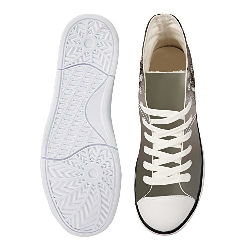 Bigcardesigns Galaxy Dier Casual Hoge Top Canvas Sneakers Kat 2
