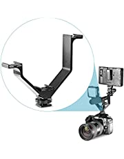 """Neewer® Aluminium Alloy 5""""/12.5cm V-Shape Triple 3 Universal Cold Shoe Mount Bracket for Nikon Canon Sony Pentax DSLR Camera or Camcorder Accessory Such as LED Video Light,Microphone,Monitor,Flash"""