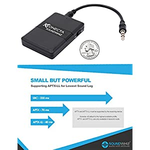 Bluetooth Transmitter Receiver Adapter – Best Portable Mini Wireless 3.5mm Audio Transmitter Kit (aptX Low Latency Dongle), Dual Connector For TV, Sound System, Car, Gym, Headphones, Speakers