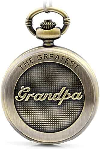 to My Grandpa Engraved Pocket Watch for Grandpa Father's Day Christmas, Valentines Day, Birthday