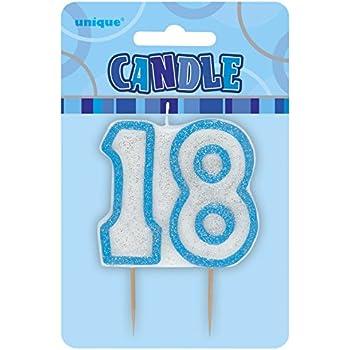 Unique Party Blue Number Candle