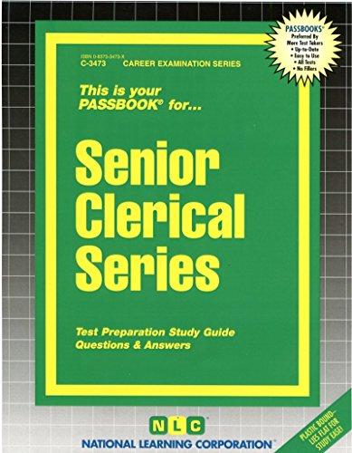 Senior Clerical Series(Passbooks) (Career Examination Passbooks)