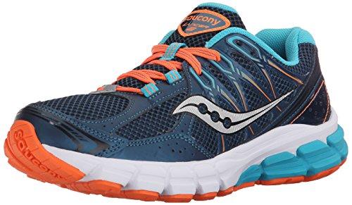 Saucony Women's Lancer 2 Running Shoe,Teal/Orange,10 M US