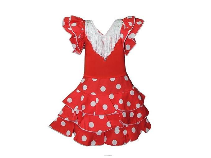 Toros y Lunares Vestido de sevillanas Infantil Rojo con ...