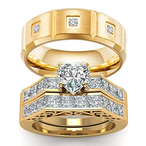 wedding ring set Two Rings His Hers Couples Rings Women