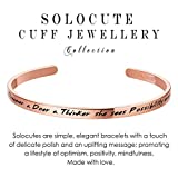 SOLOCUTE Graduation Gift 2017 She is a Dreamer a Doer a Thinker she sees Possibility everywhere Engraved Cuff Bangle Bracelet Inspirational Jewelry