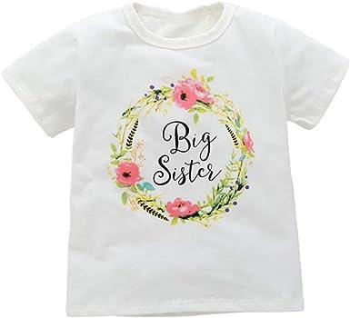 ESHOO pequeña Hermana/Hermana Juego Ropa bebé niñas algodón T Camisas: Amazon.es: Ropa y accesorios