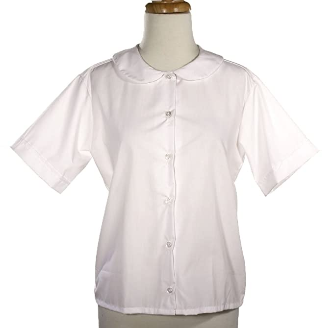 1950s Rockabilly & Pin Up Tops, Blouses, Shirts Peter Pan Blouse - Adult Size XS to 2X  AT vintagedancer.com