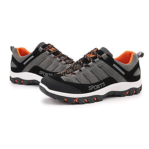 Men's Flat Cricket Easy up Shoes Shopping Sports Go Heel Gray Lace Athletic Shoes qEpRt4B