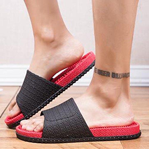 XIAOLIN Zapatillas inferiores de masaje de verano Baño interior Playa Versión japonesa al aire libre de las zapatillas de deporte antideslizante coreano inferior grueso de los hombres inferiores (tama 02
