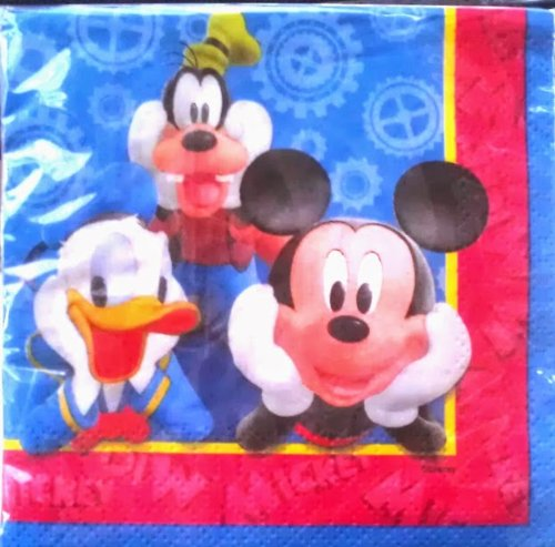 Disney Mickey Mouse Clubhouse Beverage Dessert Party Napkins - 16 per (Mickey Mouse Clubhouse Napkins)