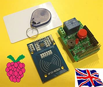 Rs-Pi RFID Reader Kit -02 Relay Switch Buzzer LED board
