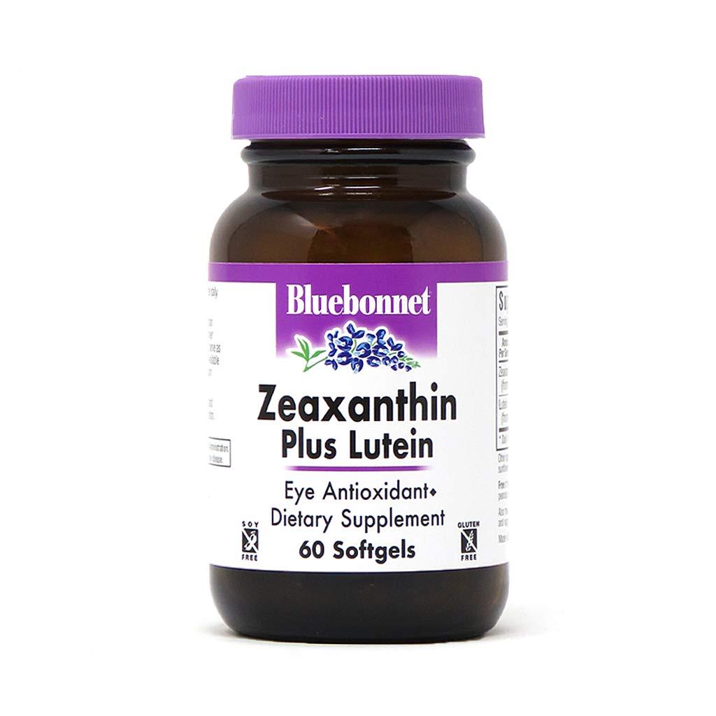 Bluebonnet Nutrition Zeaxanthin Plus Lutein Softgel, Lutein & Zeaxanthin, Eye Health & Blue Light Exposure, Lutein from Marigold, Zeaxanthin from Paprika, Gluten Free, Soy Free, Milk Free, 60 Softgels